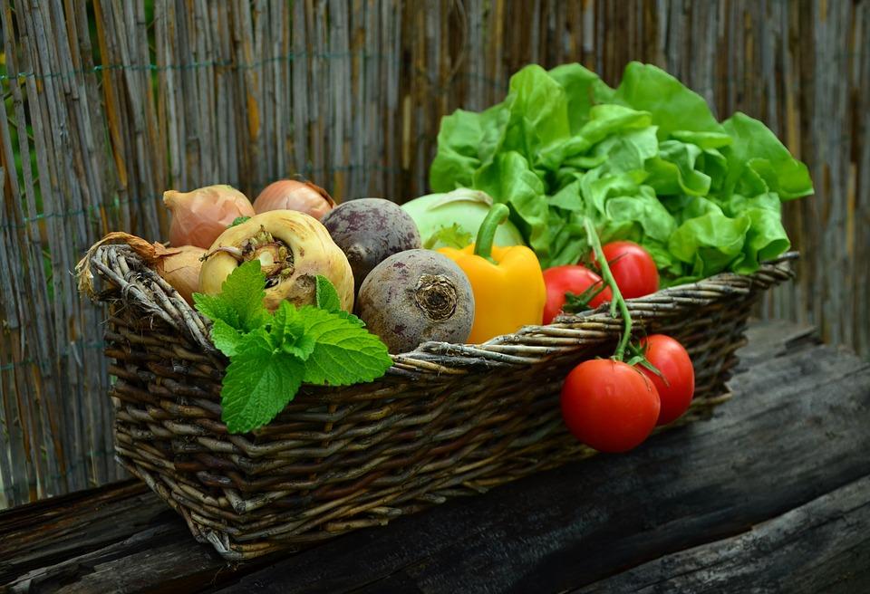 cesto de verduras
