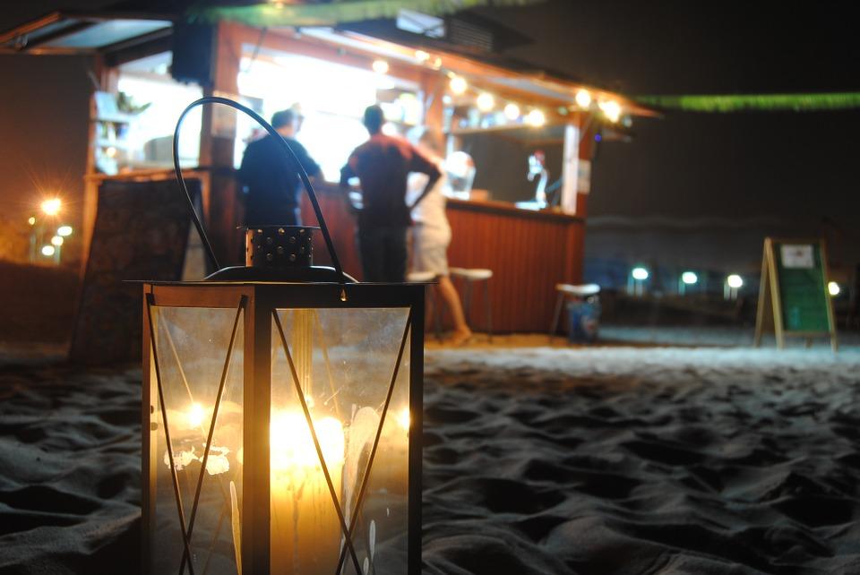 farolillo en playa