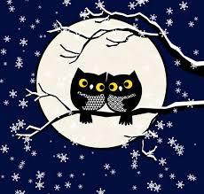 los buhos sobre luna llena.