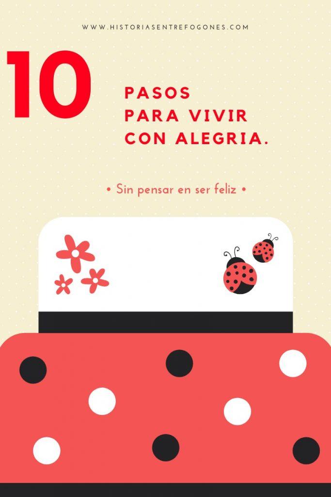 Cartel 10 pasos para vivir con alegría