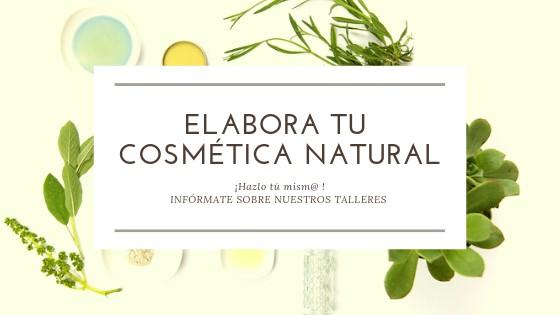 cartel taller, elabora tu cosmética natural