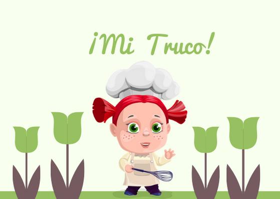 niña cocinera truco