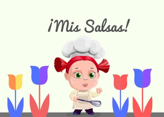 niña cocinera mis salsas