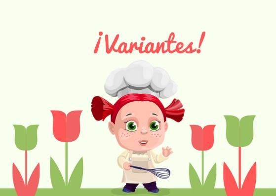 variantes, niña cocinera