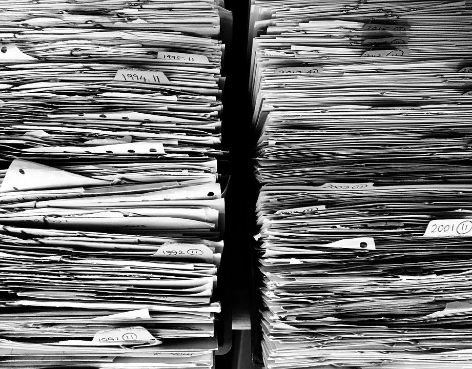 archivos de papel