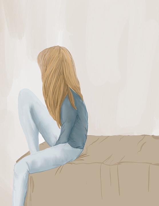 ilustración niña pelo largo