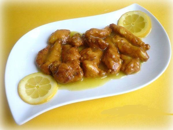 pollo al limón con tempura