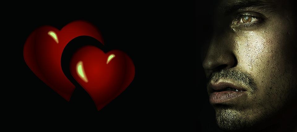 corazón roto hombre