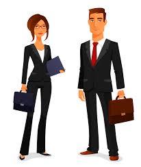 pareja de ejecutivos, ilustración