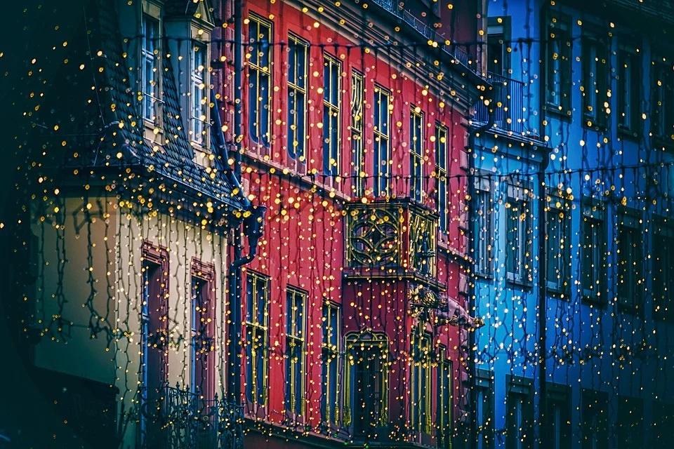 ciudad luces navidad