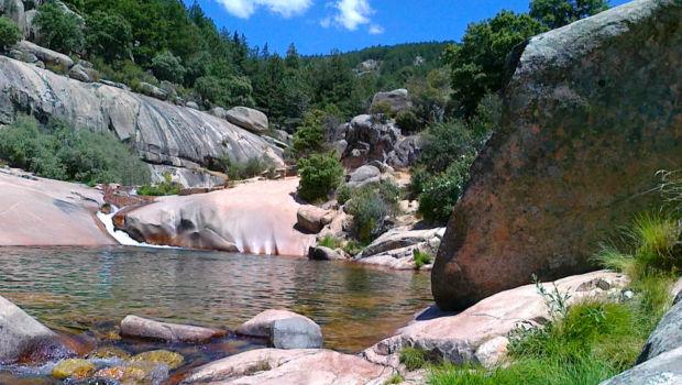 La Pedriza, río manzanares, charca verde.