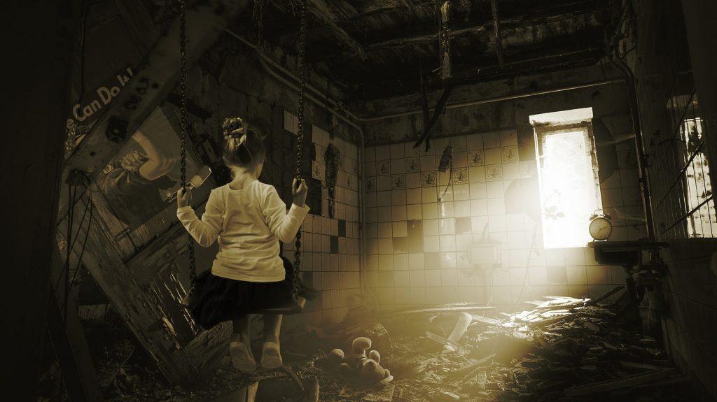 desolación, niña guerra
