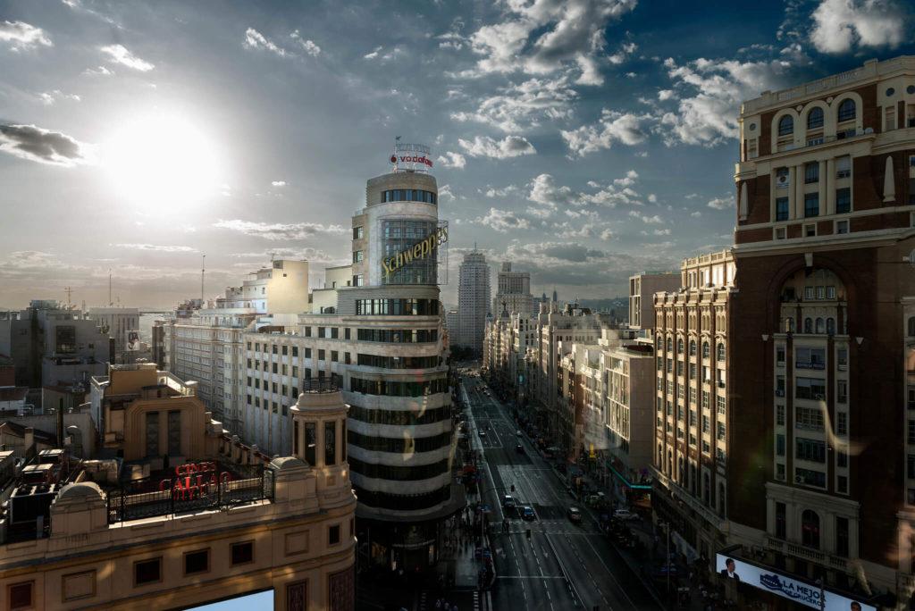 Madrid Grav vía panorámica