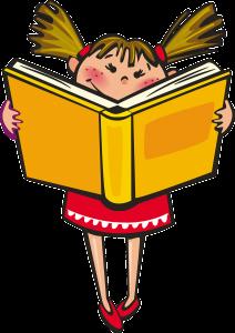 ilustración niña leyendo