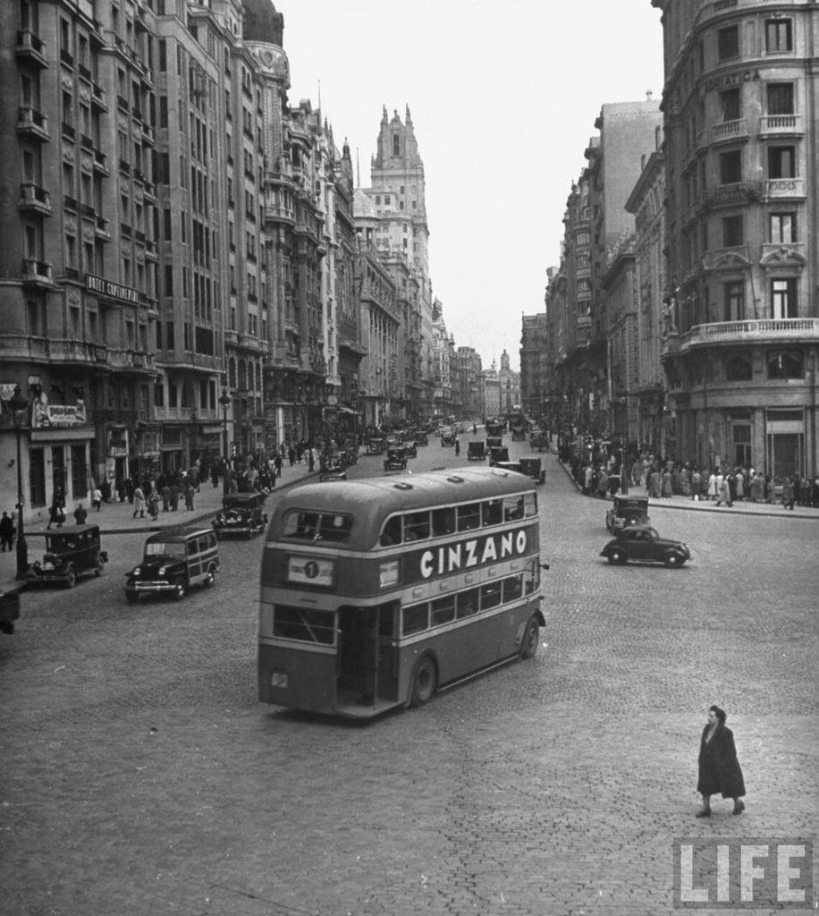 gran vía Madrid años 40
